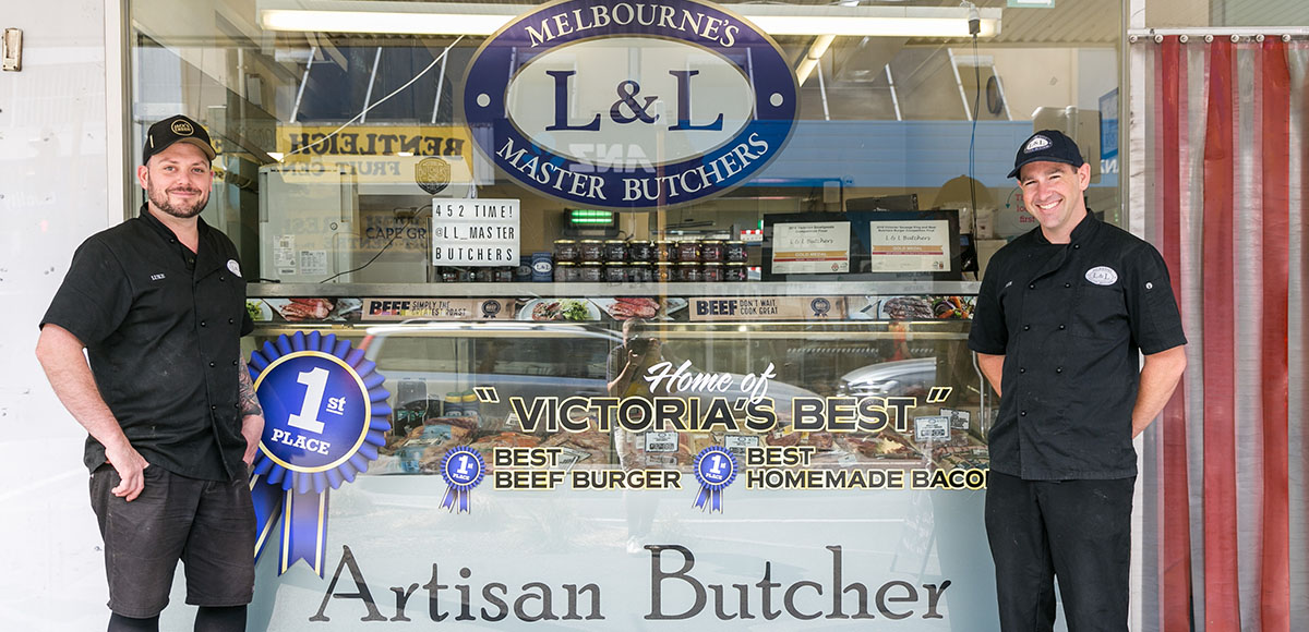 <h1>L & L Butchers<br /><span>bringing butchery into the 21st century</span></h1><div class='clear'></div>